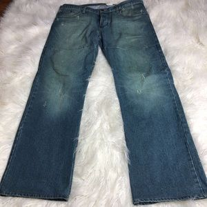 Roy Mens Button Fly Jeans Straight 34 X 31